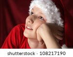 portrait of a little boy in... | Shutterstock . vector #108217190