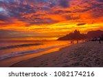 Sunset View Of Ipanema Beach...