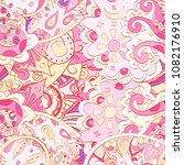 tracery seamless pattern.... | Shutterstock .eps vector #1082176910