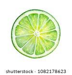 Round Slice Of Green Fresh Lim...