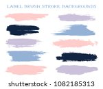 minimalistic label brush stroke ... | Shutterstock .eps vector #1082185313