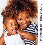 adorable sweet young afro... | Shutterstock . vector #1082193140