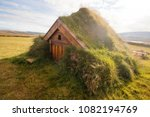 traditional house in iceland ... | Shutterstock . vector #1082194769