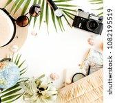 top view on traveler... | Shutterstock . vector #1082195519
