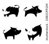 set vector illustration... | Shutterstock .eps vector #1082199104