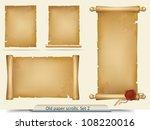 set of old paper scrolls | Shutterstock .eps vector #108220016