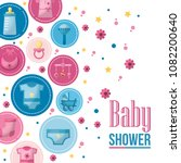 baby shower card | Shutterstock .eps vector #1082200640