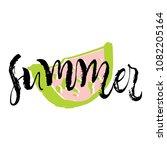 summer. calligraphy greeting... | Shutterstock .eps vector #1082205164
