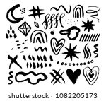hand drawn abstract elements.... | Shutterstock .eps vector #1082205173