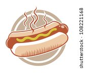 hot dog in a badge   Shutterstock .eps vector #108221168