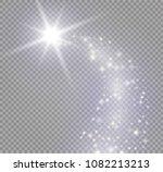 gloowing stars effect   lights... | Shutterstock .eps vector #1082213213