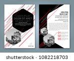 abstract minimal geometric... | Shutterstock .eps vector #1082218703