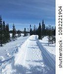 beautiful winter day in... | Shutterstock . vector #1082221904