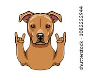 staffordshire terrier dog.... | Shutterstock .eps vector #1082232944