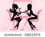 beauty salon  manicure   Shutterstock .eps vector #108223376