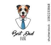 american bulldog dog. fathers... | Shutterstock .eps vector #1082233868
