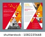 abstract minimal geometric... | Shutterstock .eps vector #1082235668