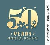 50 years anniversary vector... | Shutterstock .eps vector #1082238260