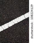 Asphalt With Slope White Line