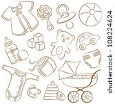 Doodle Baby Icon Set