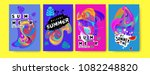 vector colorful summer tropical ... | Shutterstock .eps vector #1082248820