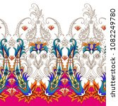 seamless pattern with paisley... | Shutterstock .eps vector #1082249780