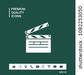 clapperboard icon symbol | Shutterstock .eps vector #1082253050