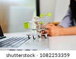 cart online shopping | Shutterstock . vector #1082253359