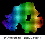 colorful northern ireland map.... | Shutterstock .eps vector #1082254844