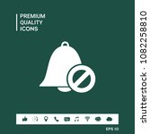 no bell icon. prohibition sign. ...   Shutterstock .eps vector #1082258810