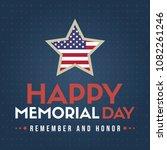 happy memorial day design... | Shutterstock .eps vector #1082261246