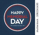 happy memorial day gretting card | Shutterstock .eps vector #1082261630