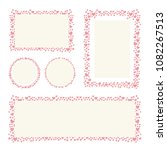 hearts frame for your... | Shutterstock .eps vector #1082267513