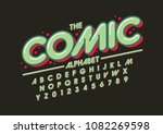vector of stylized comical font ... | Shutterstock .eps vector #1082269598
