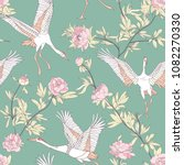 seamless pattern with japanese... | Shutterstock .eps vector #1082270330