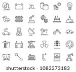 thin line icon set   offshore... | Shutterstock .eps vector #1082273183
