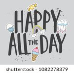 trendy t shirt design with... | Shutterstock .eps vector #1082278379