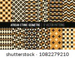 african ocher  black and white... | Shutterstock .eps vector #1082279210