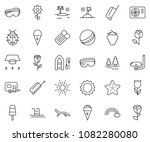 thin line icon set   air...   Shutterstock .eps vector #1082280080