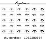 eye makeup. types of eyeliner.... | Shutterstock .eps vector #1082280989