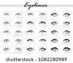 eye makeup. types of eyeliner.... | Shutterstock .eps vector #1082280989