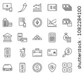 thin line icon set   monitor... | Shutterstock .eps vector #1082284100
