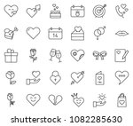 thin line icon set   rose... | Shutterstock .eps vector #1082285630