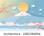 travel postcard and poster of... | Shutterstock .eps vector #1082286836