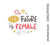 the future is female. logo ... | Shutterstock .eps vector #1082293556