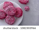 close up homemade meringues on... | Shutterstock . vector #1082303966
