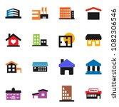 solid vector icon set  ... | Shutterstock .eps vector #1082306546