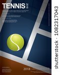 tennis championship poster... | Shutterstock .eps vector #1082317043