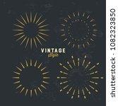 set of vintage gold sunburst...   Shutterstock .eps vector #1082323850