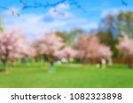 unforcused view of spring park... | Shutterstock . vector #1082323898